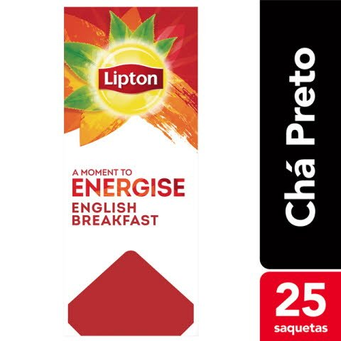 Lipton chá preto English Breakfast 25 Saq.