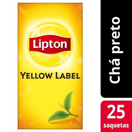Lipton chá preto Yellow Label 25 Saq. -