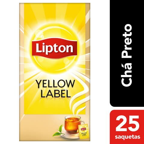 Lipton chá preto Yellow Label -