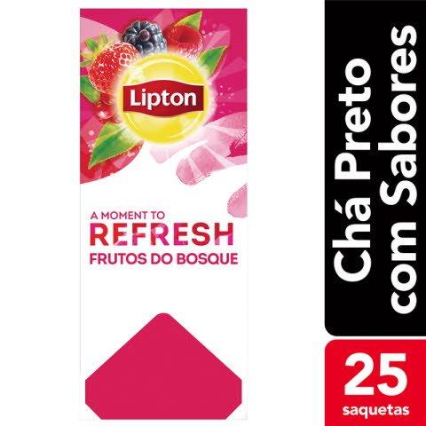 Lipton chá sabores Frutos do Bosque 25 Saq.