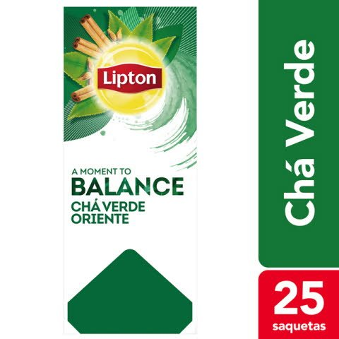 Lipton chá verde Green Tea Orient 25 Saq. -