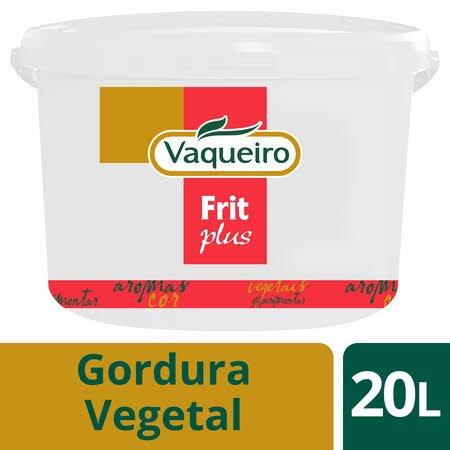 Vaqueiro Frit Plus gordura vegetal fritura imersão 20Lt