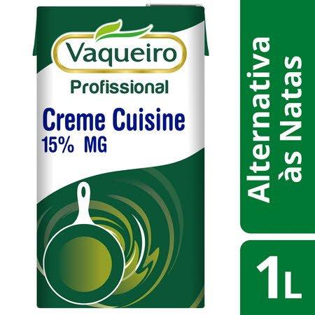 Vaqueiro Profissional Alternativa às Natas Creme Cuisine 1Lt -