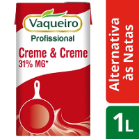 Vaqueiro Profissional Alternativa às Natas Creme & Creme 1Lt