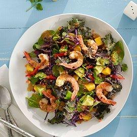 Salada de Camarão e Manga