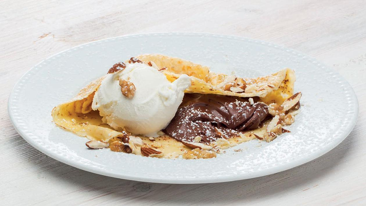 Crepe Chocolate e Nata