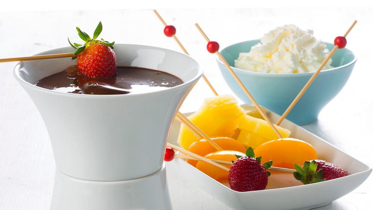 Fondue de Chocolate com Fruta