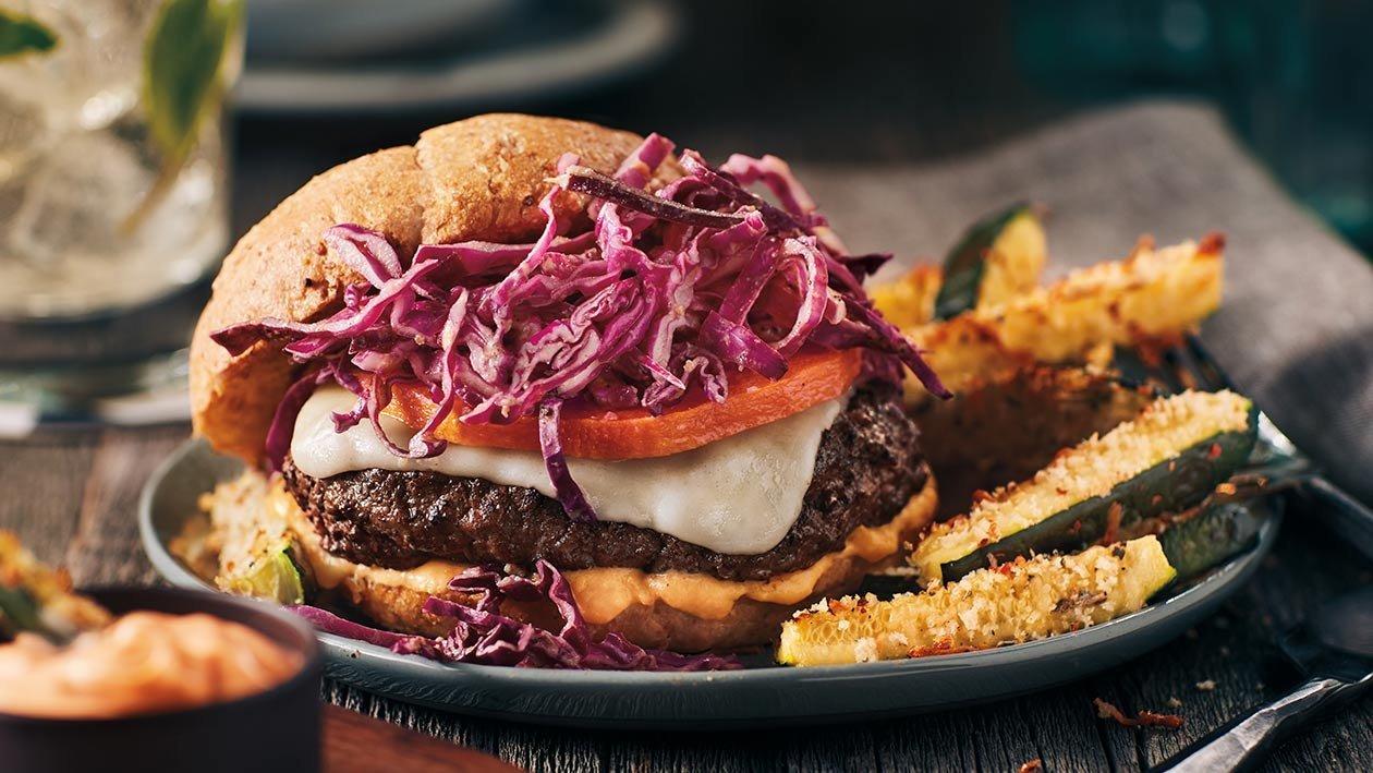Hambúrguer com Curgete Frita