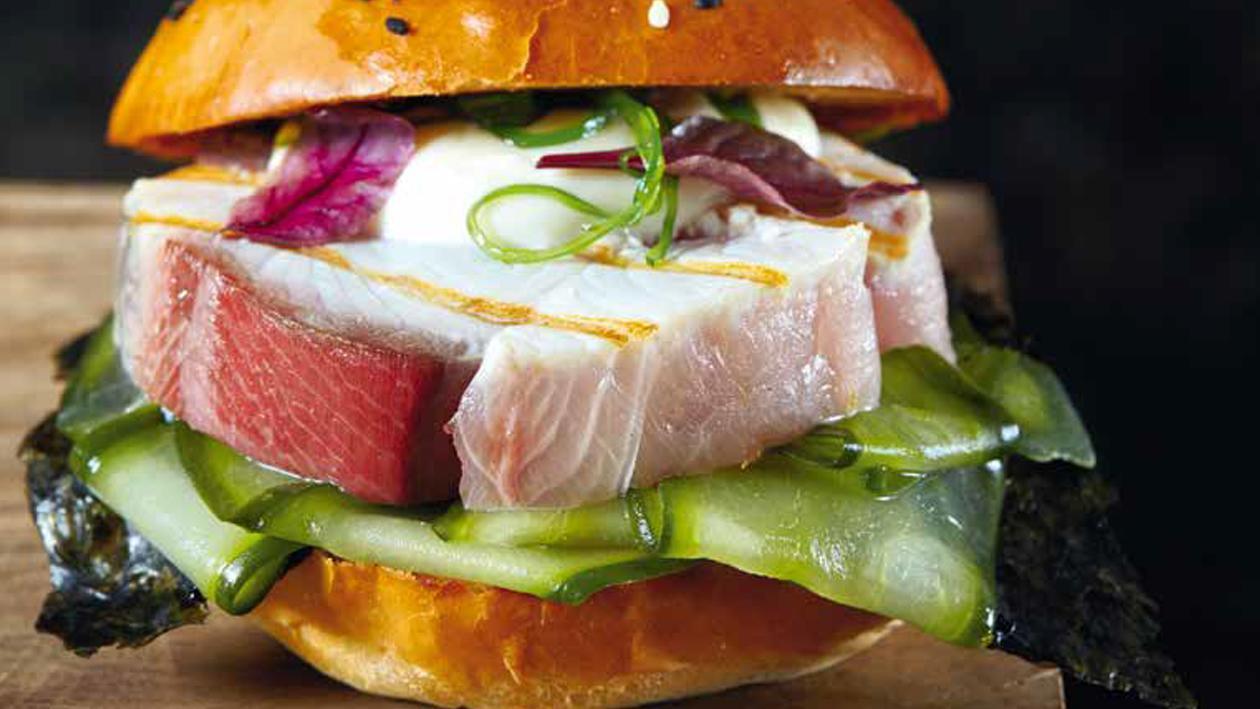 Hambúrguer de Espadarte Oriental