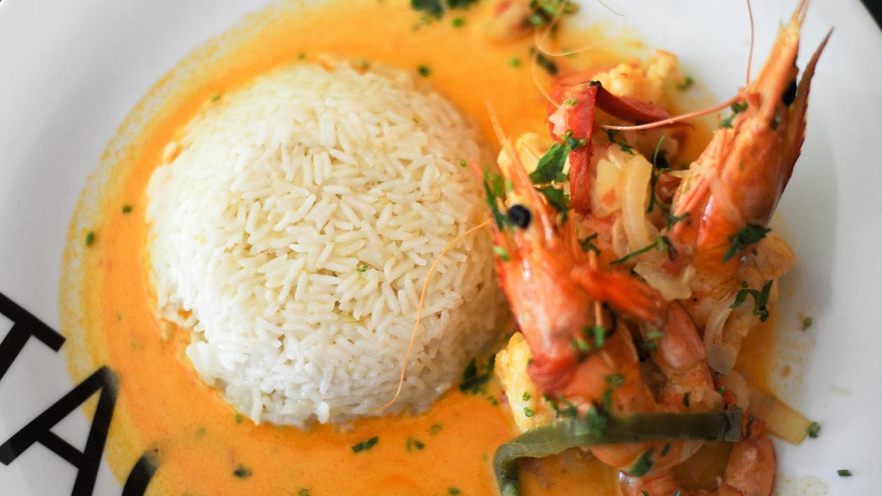 Moqueca de Tamboril e Camarão com Arroz, Restaurante Vintage, Leiria