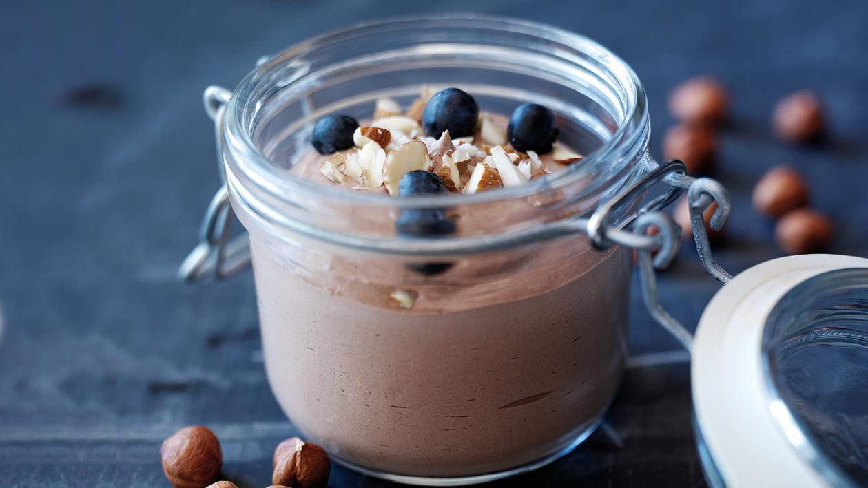 Mousse de Chocolate enrequecida com Natas e Avelã