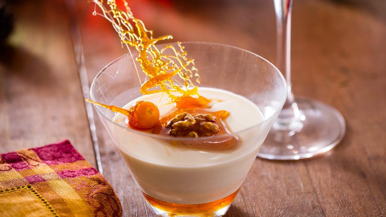 Panna Cotta de Mel e Frutos Secos