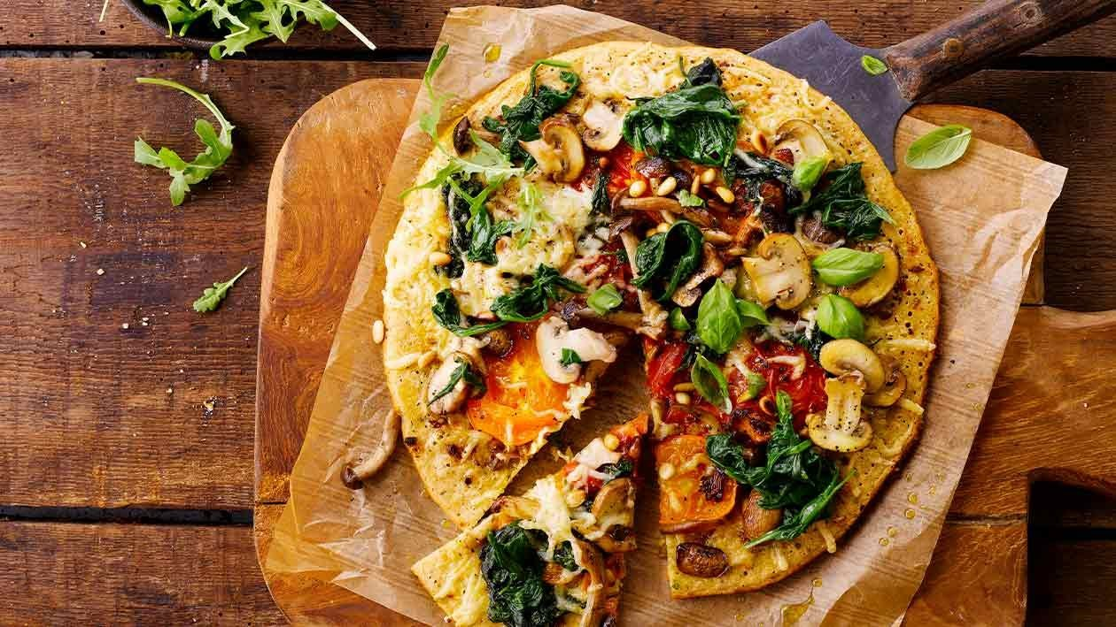 Pizza de vegetais