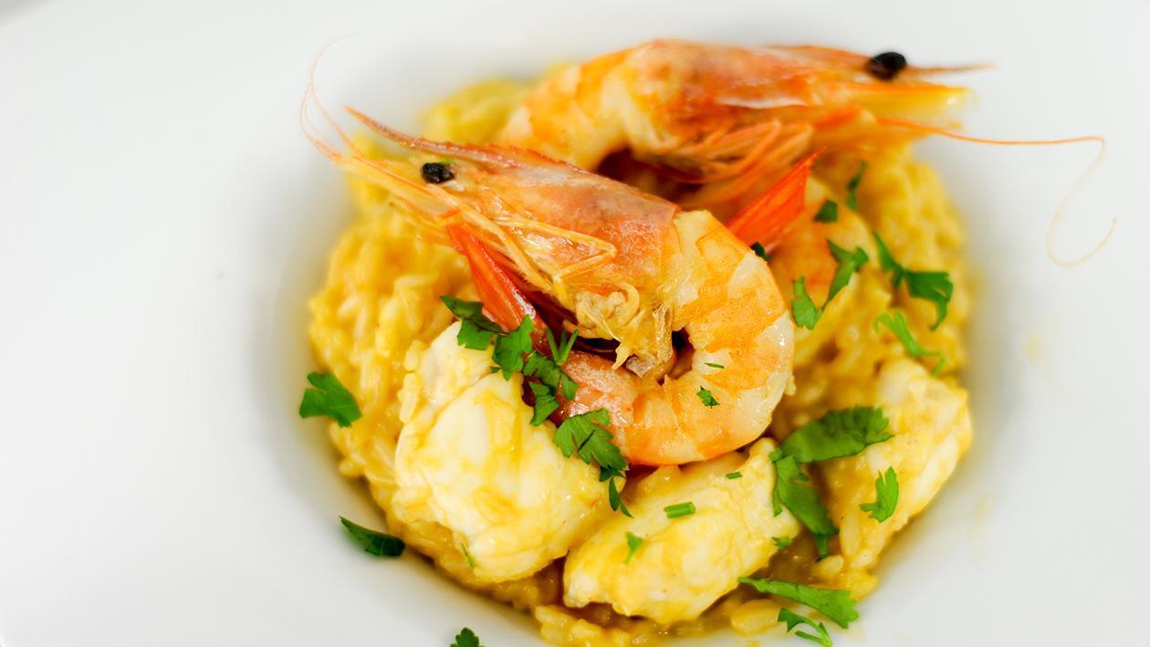 Risotto de Tamboril com Gambas, Restaurante Corta Mar, Braga