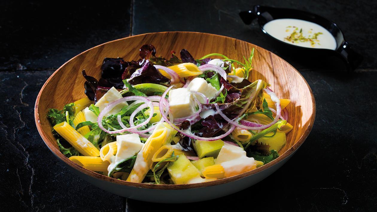 Salada de Meloa com Penne e Queijo Fresco