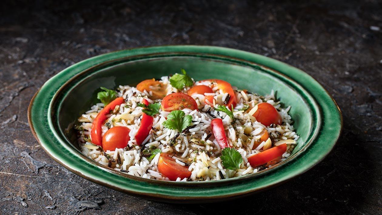 Salada de mix de arroz selvagem