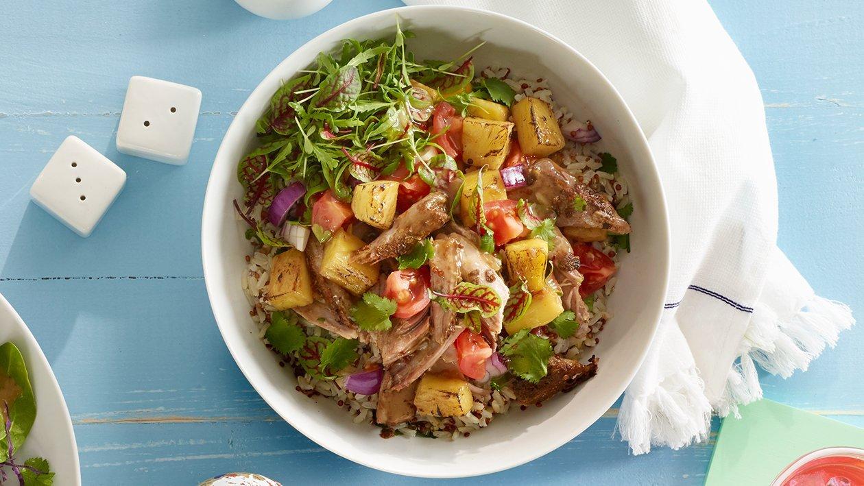 Salada tropical de coentros e lima