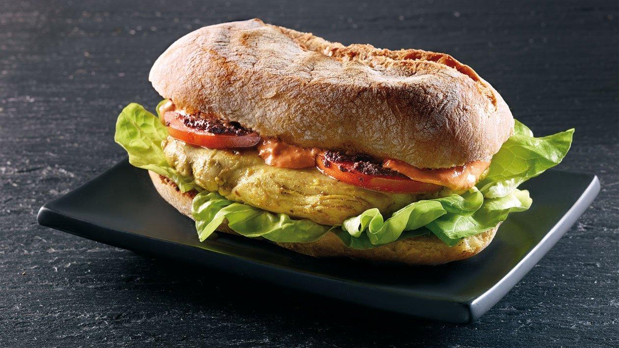Sanduíche de Frango Picante