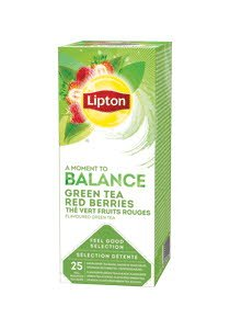 Lipton Ceai verde cu Fructe de Padure Rosii 25 Plicuri