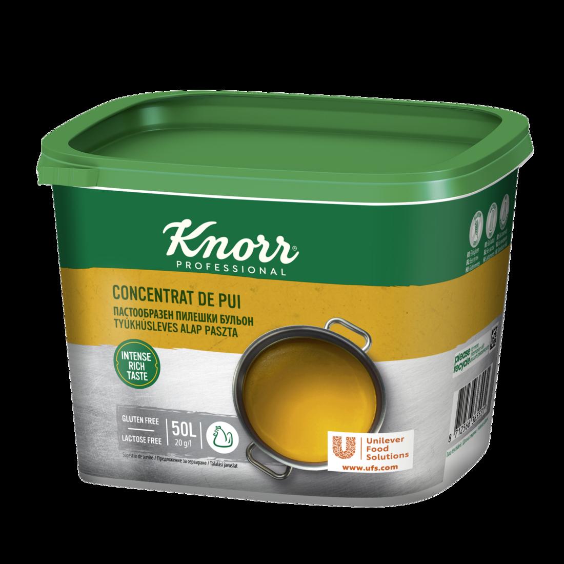 Knorr Concentrat de Pui - Surprinde-ti clientii cu un gust intensificat al preparatelor cu baza de pui.