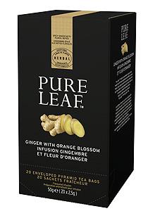 Pure Leaf Ghimbir si flori de portocal 20 plicuri - O experienta exceptionala a ceaiului incepe cu o simpla frunza. Si se incheie cu o servire impecabila.