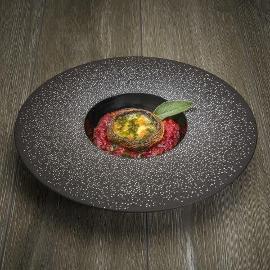Ciuperci Parmiggiana cu mozzarella bocconcini si pesto