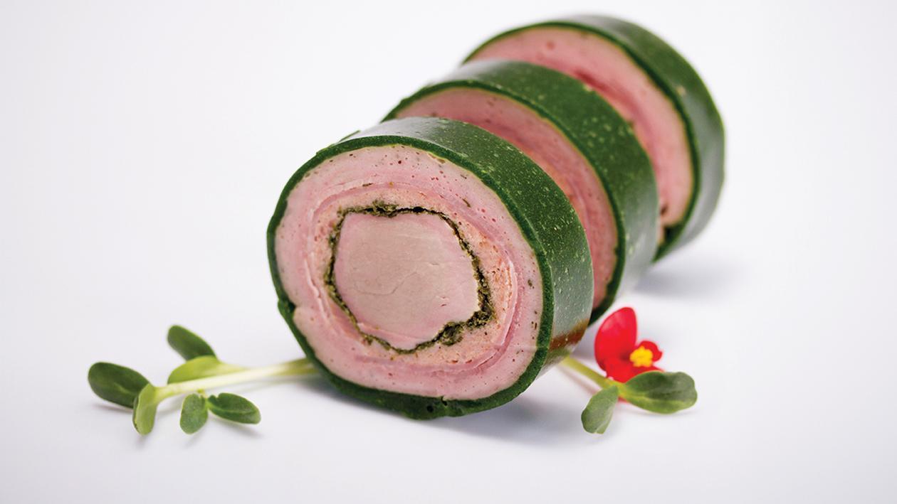 Rulada de porc in mantie de verdeturi