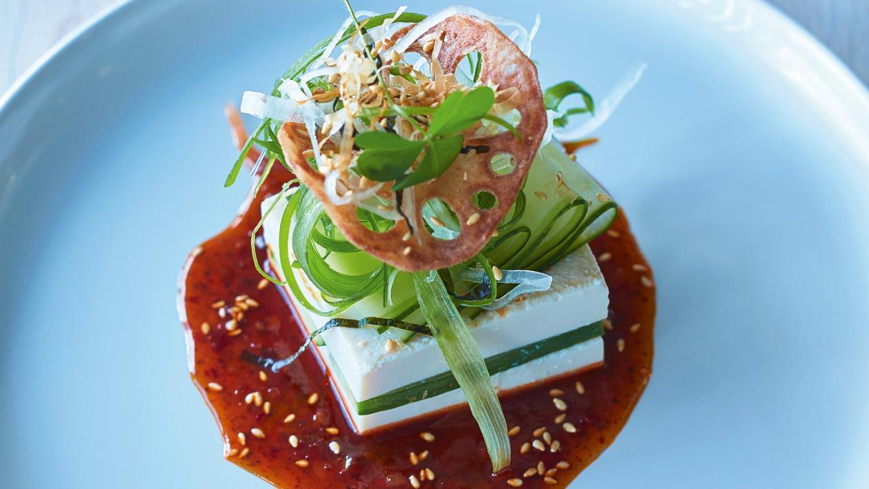 Salata cu tofu si castravete