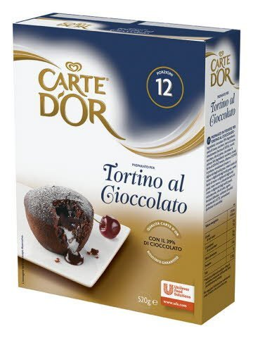Десерт Carte D'Or Шоколадный фондан, 520 гр