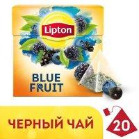 LIPTON черный чай в пирамидках Blue Fruit (20шт)