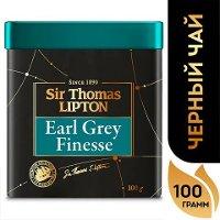 SIR THOMAS LIPTON черный чай листовой Earl Grey Finesse (100гр)
