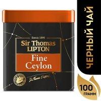 SIR THOMAS LIPTON черный чай листовой Fine Ceylon (100гр)