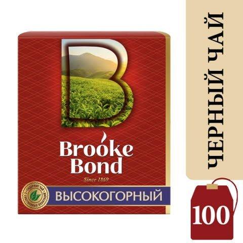 Brooke Bond черный чай Высокогорный  в индивидуальных конвертах, 100 шт