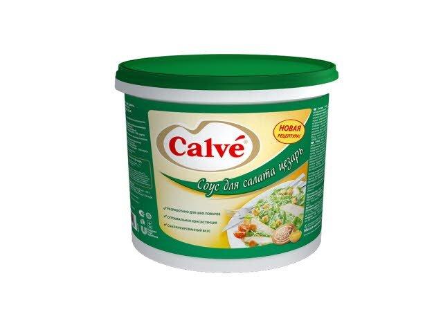 CALVE Соус на основе растительных масел для салата Цезарь (940г)