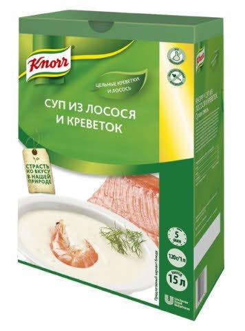 KNORR Суп-пюре из лосося с креветками (1,8 кг)