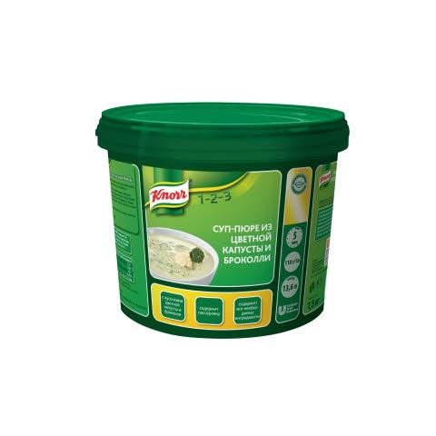 KNORR Суп-пюре из цветной капусты и брокколи (1,5кг)