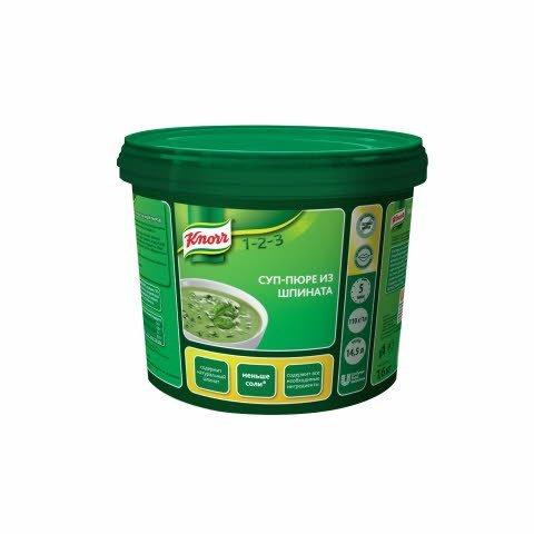 KNORR Суп-пюре из шпината Сухая смесь (1,6кг) -