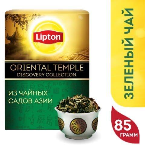 Lipton чай зеленый листовой Oriental Temple, 85 гр