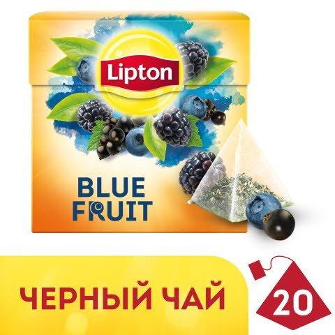 LIPTON черный чай в пирамидках Blue Fruit (20шт) -