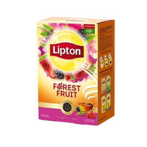 LIPTON черный чай листовой Forest fruit (85гр) -