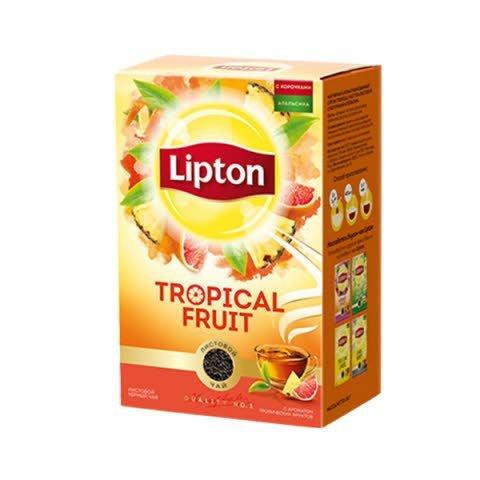 LIPTON черный чай листовой Tropical Fruit (85гр) -