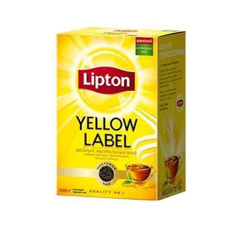 LIPTON черный чай листовой Yellow Label (100гр) -