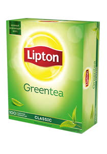 Lipton Classic Green Tea зеленый чай, 100 пак.