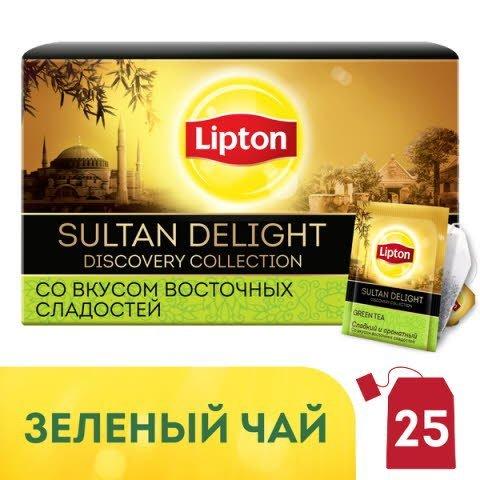 LIPTON Discovery Collection зеленый чай в сашетах Sultan Delight (25шт) -