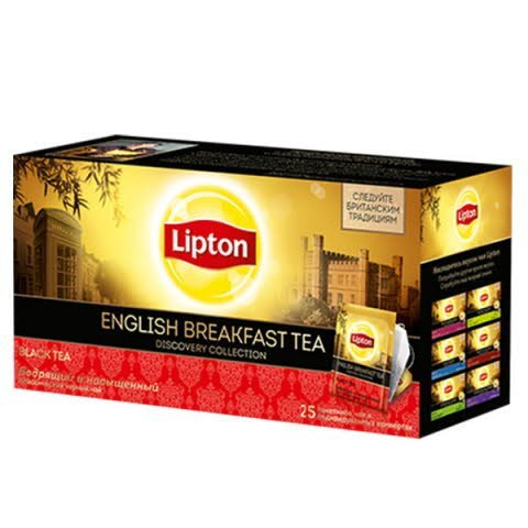 LIPTON Discovery Collection черный чай в сашетах English Breakfast (25шт) -
