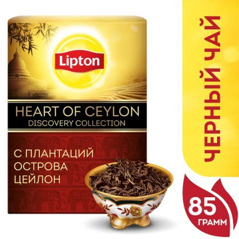 LIPTON Discovery Collection черный чай листовой Heart of Ceylon (85гр) -
