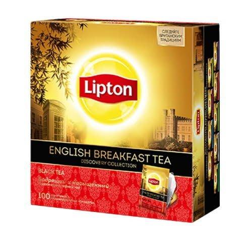 Lipton English Breakfast черный чай в индивидуальных конвертах, 100 шт