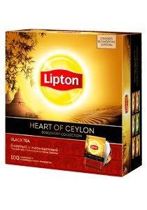 Lipton Heart of Ceylon черный чай в индивидуальных сашетах, 100 пак.