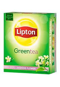 Lipton Jasmine Flower Green Tea зеленый чай с жасмином, 100 пак.