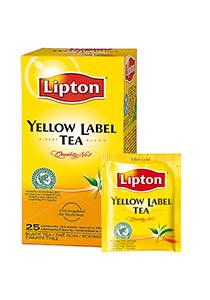 Lipton Yellow Label черный чай в индивид. конвертах, 25 пак.